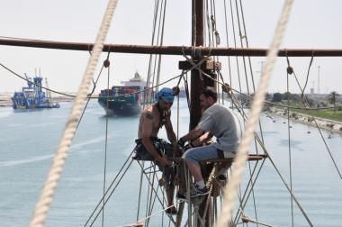 Práce na lodi