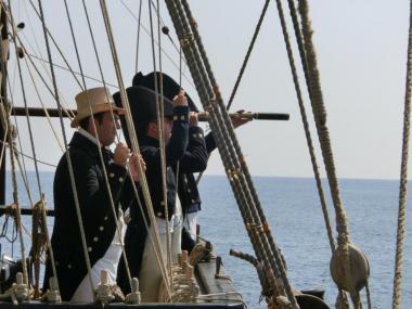 Plavba jako v 18. století